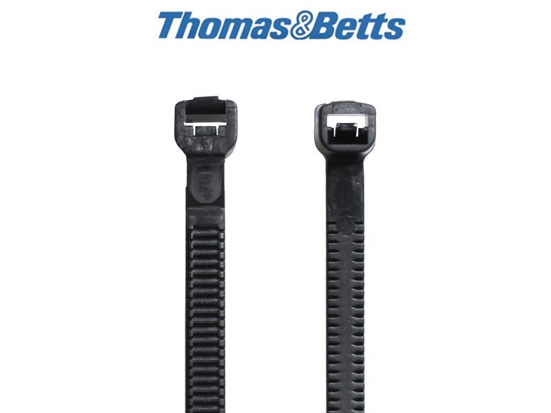 Vollplastik Kabelbinder, schwarz