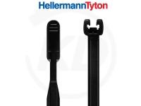 Hellermann Q-tie Kabelbinder 2,6 x 195 mm, schwarz 100 Stück