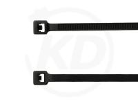 Kabelbinder außenverzahnt 2,5 x 100 mm, schwarz