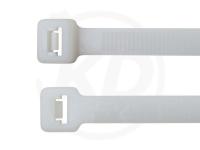 7.6 x 390 mm Kabelbinder außenverzahnt, natur, 100 Stück