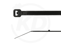 3.6 x 300 mm Kabelbinder mit Stopper, schwarz, 100 Stück