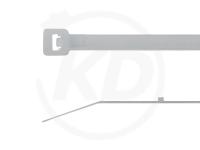 3.6 x 180 mm Kabelbinder mit Stopper, natur, 100 Stück