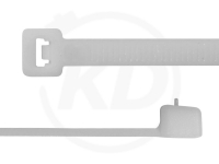 4,8 x 370 mm Kabelbinder, wiederlösbar, natur 100 Stück