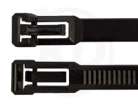 7,6 x 350 mm Kabelbinder, wiederlösbar, schwarz 100 Stück