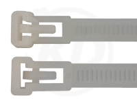7,5 x 370 mm Kabelbinder, wiederlösbar, natur 100 Stück
