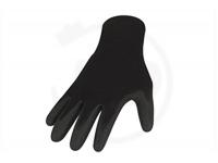 Polyesterhandschuhe mit Latexbeschichtung, schwarz, Gr. 8