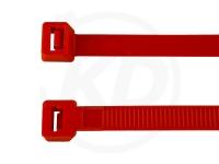 2.6 x 200 mm Kabelbinder, rot, 100 Stück