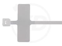 2.5 x 200 mm Kabelbinder mit Beschriftungsfeld, 100 Stück