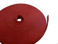 Klettbandrolle, rot, 10 mm x 25 Meter