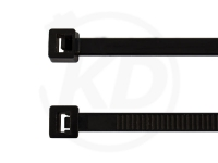 4.8 x 300 mm Kabelbinder kälteresistent, schwarz, 100 Stück