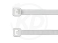 4.8 x 300 mm Kabelbinder aus Polypropylen, weiß, 100 Stück