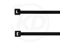 2.5 x 100 mm Kabelbinder aus Polypropylen, schwarz, 100 Stück
