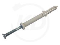Nageldübel mit Zylinderkopf, 06 x 80 mm, grau, 100 Stück