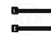 4.8 x 200 mm Kabelbinder aus Polypropylen, schwarz, 100 Stück