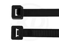 7.6 x 380 mm Kabelbinder aus Polypropylen, schwarz, 100 Stück