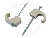 Nagelclips 07 - 12 mm mit 25 mm Nagel, 100 Stück