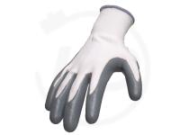 Polyesterhandschuhe mit Nitrilbeschichtung, grau, Gr. 10