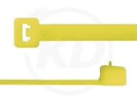 4,8 x 200 mm Kabelbinder, wiederlösbar, gelb 100 Stück