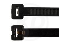 7.5 x 360 mm Kabelbinder mit Metallzunge, schwarz, 100 Stück