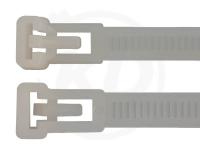 8,5 x 500 mm Kabelbinder, wiederlösbar, natur 100 Stück