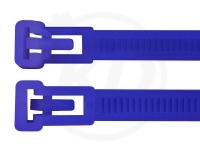 7,5 x 250 mm Kabelbinder, wiederlösbar, blau 100 Stück