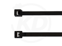2.5 x 135 mm Kabelbinder UV-beständig, schwarz, 100 Stück