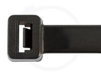 12.6 x 500 mm Kabelbinder UV-beständig, schwarz, 100 Stück