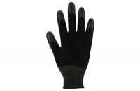 Nylonhandschuhe mit Soft-PU-Beschichtung, schwarz, Gr. 11