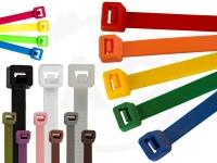 Kabelbinder Set - 4.8 x 200 mm, verschiedene Farben, 1800 Stück