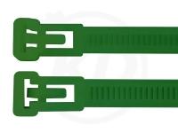 7,5 x 370 mm Kabelbinder, wiederlösbar, grün 100 Stück