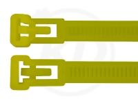 7,5 x 370 mm Kabelbinder, wiederlösbar, gelb 100 Stück