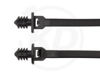 4.8 x 200 mm Kabelbinder mit Lamellenfuß, 1-teilig mit Teller, 100 Stück