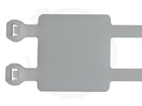 4.8 x 300 mm Kabelbinder mit Beschriftungsfeld, Doppellasche, 100 Stück