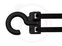 3.5 x 80 mm Kabelbinder mit Haken, schwarz, 100 Stück