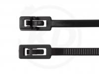 4.8 x 200 mm Kabelbinder, wiederlösbar, schwarz 100 Stück