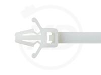 3.6 x 155 mm Kabelbinder mit Steckfuß, natur, 100 Stück