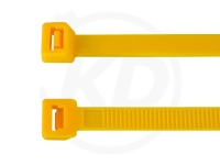 4.8 x 200 mm Kabelbinder, gelb, 100 Stück