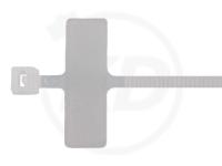 3.6 x 200 mm Kabelbinder mit Beschriftungsfeld, 100 Stück