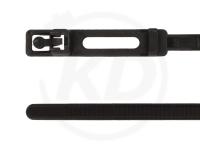 4.8 x 220 mm Kabelbinder wiederlösbar, außenverzahnt, schwarz, 100 Stück