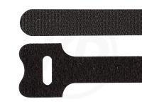 Klettbinder, schwarz, 12,5 x 205 mm, 20 Stück