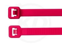 2.5 x 98 mm Kabelbinder, neonpink, 100 Stück