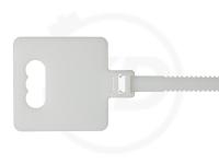 10,0 x 260 mm Kabelbinder mit Beschriftungsfeld, wiederlösbar, natur, 100 Stück