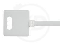 10,0 x 410 mm Kabelbinder mit Beschriftungsfeld, natur, 100 Stück