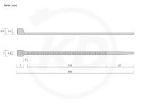 kabelbinder uv best ndig schwarz 4 5 x 360 mm kabelbinder discount industriequalit t zum. Black Bedroom Furniture Sets. Home Design Ideas