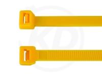 3.6 x 140 mm Kabelbinder, gelb, 100 Stück