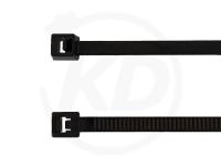 3.6 x 200 mm Kabelbinder, schwarz, 100 Stück