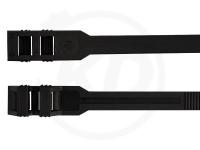 9 x 360 mm Kabelbinder mit Flachkopf, schwarz, 100 Stück