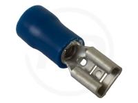 Flachsteckhülsen, isoliert, 6.3mm, 1.5 - 2.5mm², 100 Stück