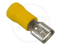 Flachsteckhülsen, isoliert, 6.3mm, 2.5 - 6.0mm², 100 Stück