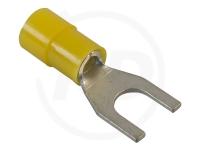 Gabelkabelschuhe, 2.5 - 6.0 mm², M10, 100 Stück